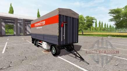 Flatbed trailer для Farming Simulator 2017