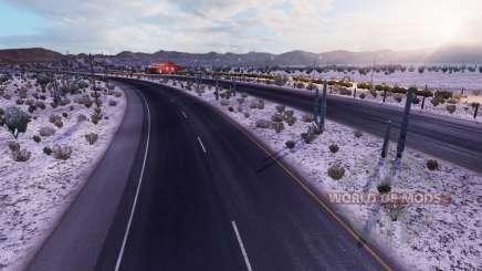 Морозная зимняя погода v2.1 для American Truck Simulator
