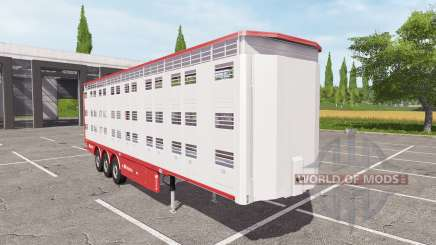 Michieletto livestock trailer v1.1 для Farming Simulator 2017