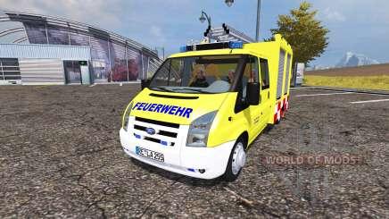 Ford Transit feuerwehr для Farming Simulator 2013