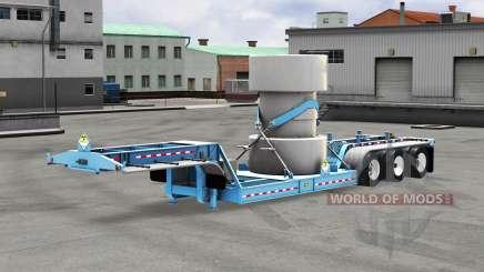 Низкорамный трал с грузом ядерных отходов v1.1 для American Truck Simulator