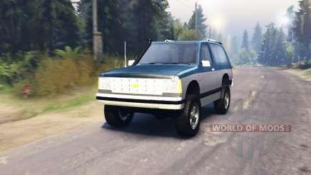 Chevrolet S-10 Blazer 1980 для Spin Tires