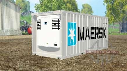 Container reefer 20ft Maersk для Farming Simulator 2015