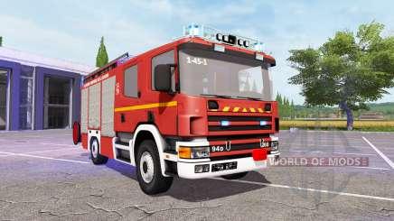 Scania 94D 260 Feuerwehr v1.1 для Farming Simulator 2017