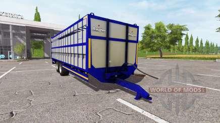 Broughan 28Ft cattle blue для Farming Simulator 2017