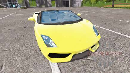 Lamborghini Gallardo Spyder v2.0 для Farming Simulator 2017