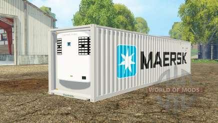 Container reefer 40ft Maersk для Farming Simulator 2015