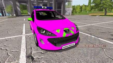 Peugeot 308 (T7) Police v1.3 для Farming Simulator 2017