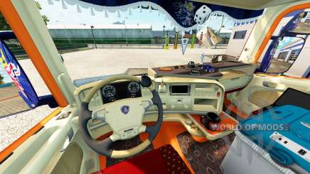 Интерьер для тягача Scania для Euro Truck Simulator 2