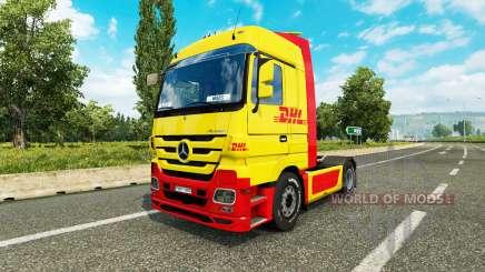 Скин DHL на тягач Mercedes-Benz для Euro Truck Simulator 2
