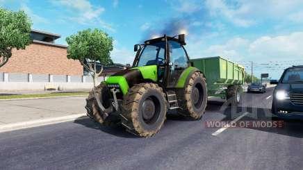 John Deere in traffic для American Truck Simulator