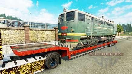 Полуприцепы с железнодорными составами v1.7 для Euro Truck Simulator 2
