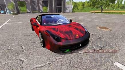 Ferrari 458 Italia fireskin для Farming Simulator 2017