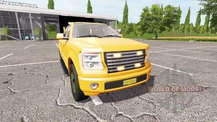 Lizard Pickup TT traffic advisor v1.2 для Farming Simulator 2017