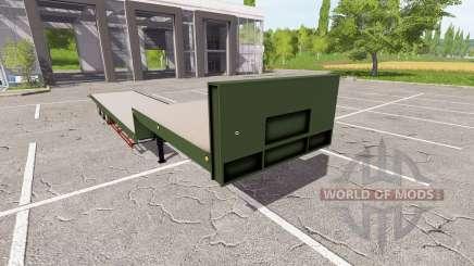 Flatbed low loader для Farming Simulator 2017