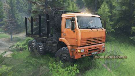 КамАЗ 6522 v10.0 для Spin Tires