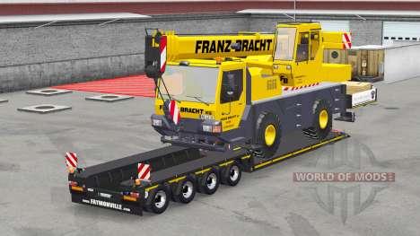 Низкорамные тралы с грузами v3.0 для American Truck Simulator