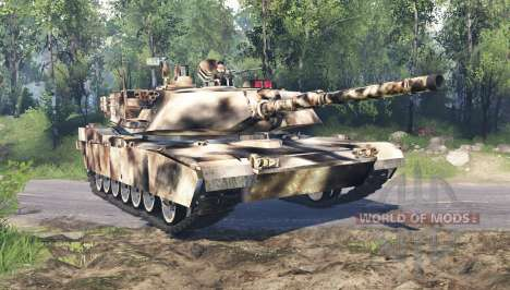 M1 Abrams desert camo для Spin Tires