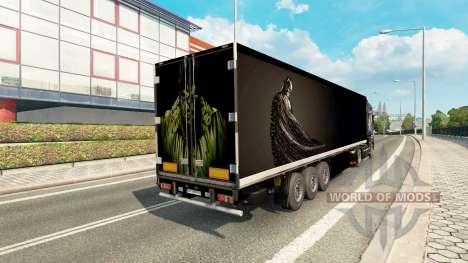 Скин Batman & Hulk на полуприцеп для Euro Truck Simulator 2