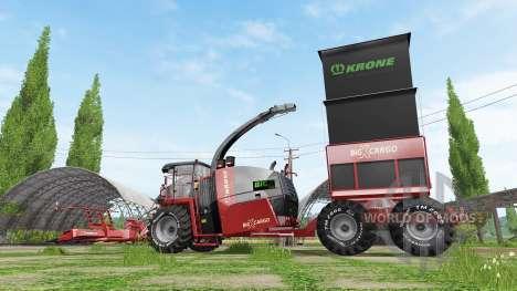 Krone BiG X 1100 cargo для Farming Simulator 2017