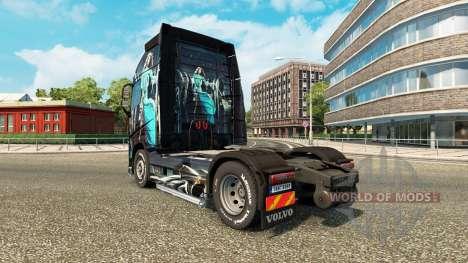 Скин Blue Girl на тягач Volvo для Euro Truck Simulator 2