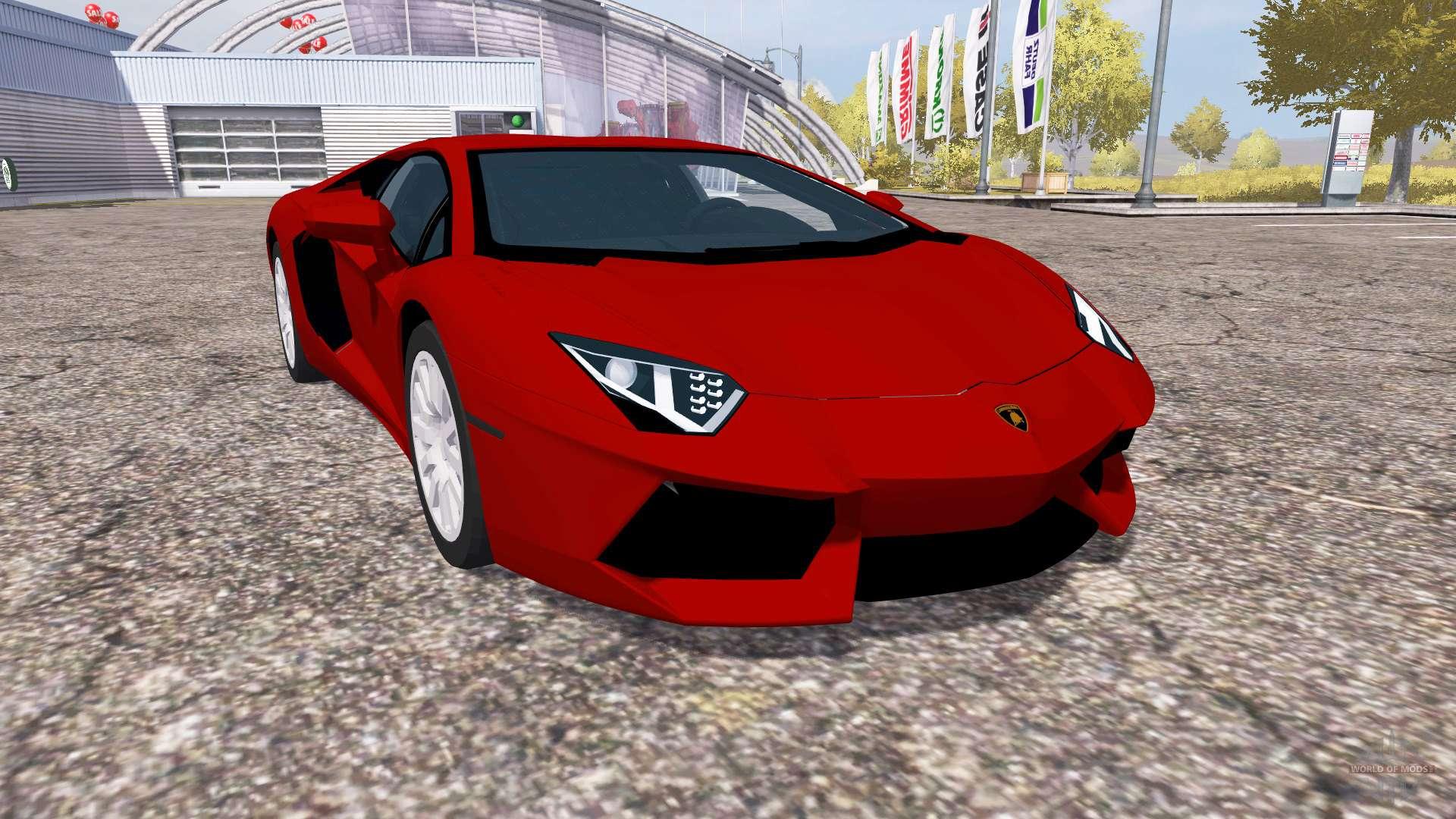 farming simulator 2013 моды легковых автомобилей lamborghini