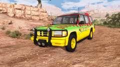 Gavril Roamer Tour Car Jurassic Park v0.7 для BeamNG Drive