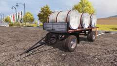 Trailer with barrels milk and water v2.0