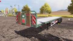 Kogel flatbed trailer для Farming Simulator 2013