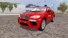 BMW X6 M (Е71) feuerwehr для Farming Simulator 2013