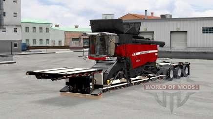 Низкорамный трал XL 90 MDE с грузами v5.0 для American Truck Simulator
