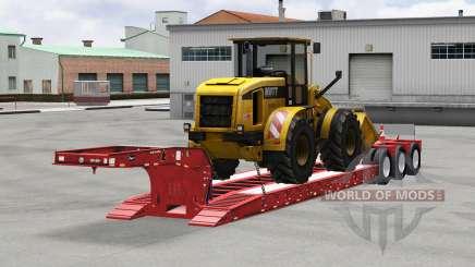 Низкорамный трал Etnyre с грузами для American Truck Simulator