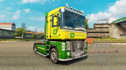 Скин John Deere на тягач Renault Magnum для Euro Truck Simulator 2