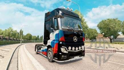 Скин Российский флаг на Mercedes-Benz Actros MP4 для Euro Truck Simulator 2
