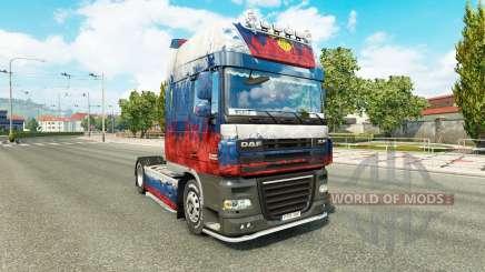 Скин Россия на тягач DAF для Euro Truck Simulator 2