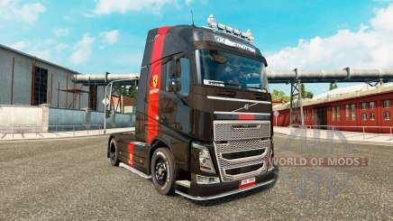 Скин Ferrari на тягач Volvo для Euro Truck Simulator 2