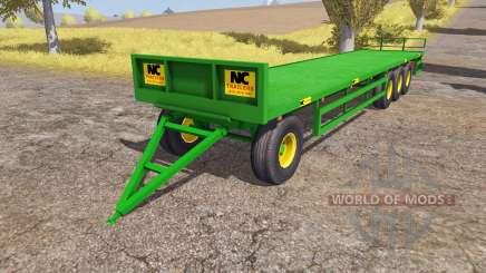 NC Engineering bale trailer для Farming Simulator 2013