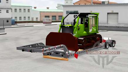 Низкорамный трал с грузами для American Truck Simulator