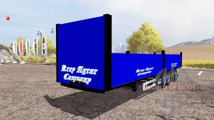 Ekeri bale semitrailer для Farming Simulator 2013