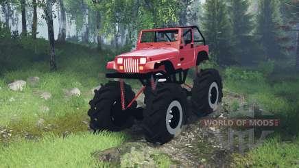 Jeep Wrangler (YJ) mega для Spin Tires