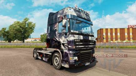Скин Fantasy Disturbed на тягач DAF для Euro Truck Simulator 2