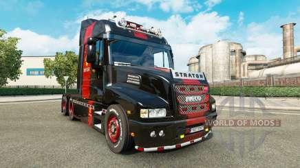 Скин Ferrari на тягач Iveco Strator для Euro Truck Simulator 2