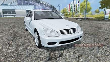 Mercedes-Benz S65 AMG V12 Biturbo (W220) 2005 для Farming Simulator 2013