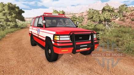 Gavril Roamer DeWitt NY Fire Department Squad для BeamNG Drive