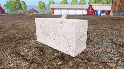 Concrete weight для Farming Simulator 2015
