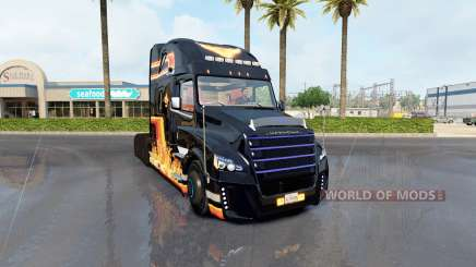 Скин In Flame на тягач Freightliner Inspiration для American Truck Simulator