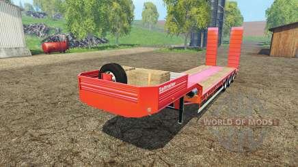 Galtrailer lowboy для Farming Simulator 2015