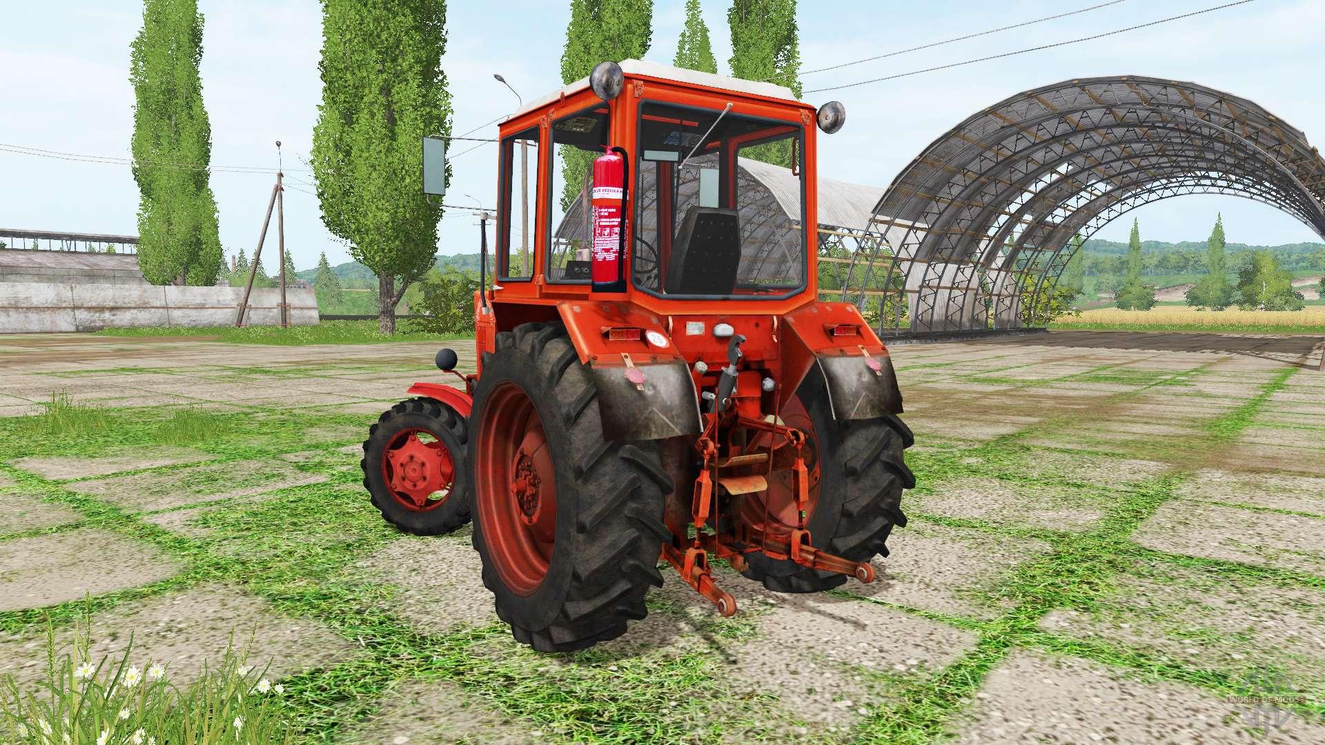 Трактор МТЗ-80 почти не выехал на маленькой подъем (с.