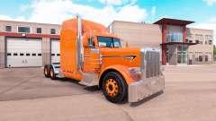 Скин Orange на тягач Peterbilt 389