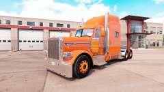 Скин Orange на тягач Peterbilt 389 v1.1